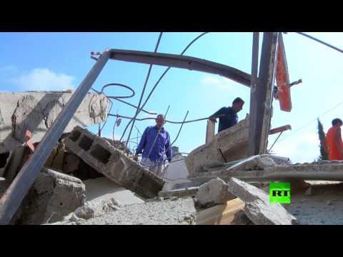 العرب اليوم - شاهد إسرائيل تهدم منازل فلسطينيين نفذوا هجمات في القدس