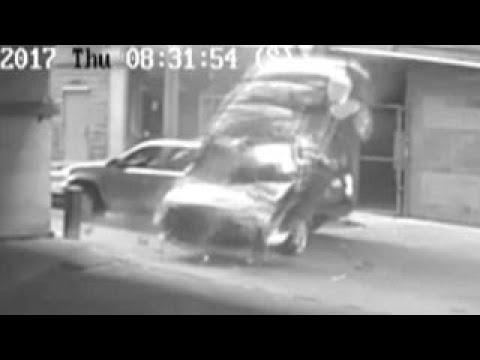 العرب اليوم - سائق ينجو من الموت في اللحظات الأخيرة