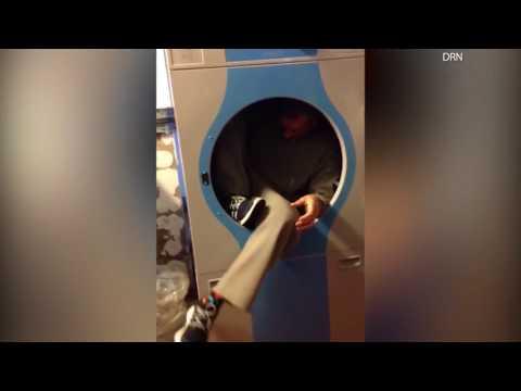 العرب اليوم - شاهد مسجون يضع نفسه في مجفف للملابس