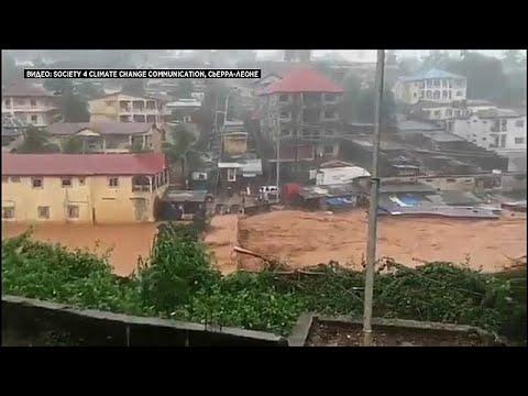 العرب اليوم - شاهد مئات القتلى والجرحى جراء الفيضانات في سيراليون