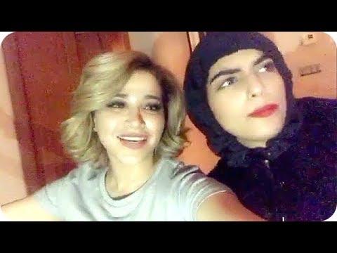 العرب اليوم - بالفيديو  نهى نبيل تغني عوافي مع سارة الودعاني
