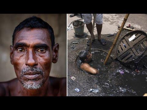 العرب اليوم - شاهد شخص يختبئ في المجاري بسبب الإحراج من عمله