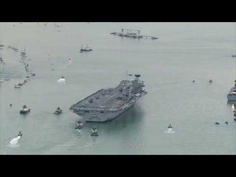 العرب اليوم - شاهد الملكة إليزابيث السفينة الحربية الأكبر والأكثر تقدما تصل إلى الوطن الأم