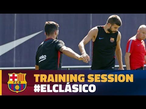 العرب اليوم - شاهد التمرين الأخير لبرشلونة استعدادًا لإياب السوبر الإسباني