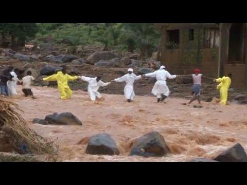 العرب اليوم - شاهد سيراليون تستغيث بالعالم لمواجهة كارثة الفيضانات