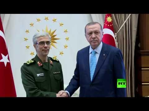العرب اليوم - شاهد أردوغان يعقد لقاءً مغلقًا مع رئيس الأركان الإيراني