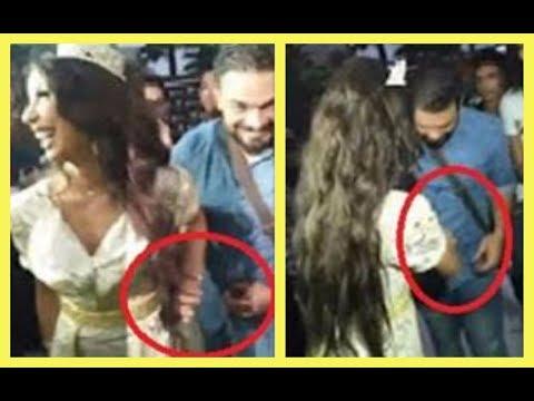 العرب اليوم - شاهد ما فعلته دنيا بطمة لزوجها خلال حفلة زفاف