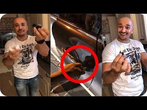 العرب اليوم - شقيق اسيل عمران يفاجئها بطريقة سحرية لفتح سيارتها