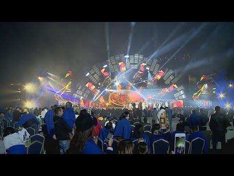 العرب اليوم - شاهد مهرجان للنجوم الآسيوية في ألماتي