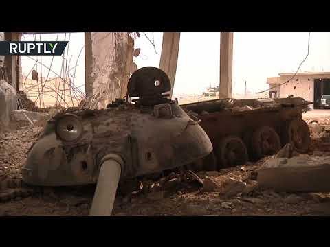 العرب اليوم - شاهد ضبط مصنع دبابات لتنظيم داعش في بلدة عقيربات