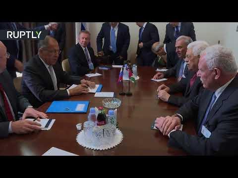 العرب اليوم - شاهد سيرغي لافروف يلتقي محمود عباس في نيويورك