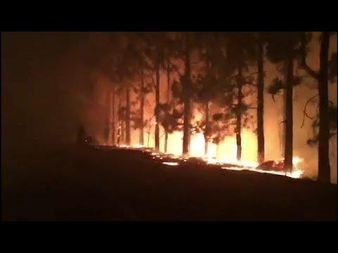 العرب اليوم - حريق هائل داخل جزيرة غران كناريا في جزر الكناري
