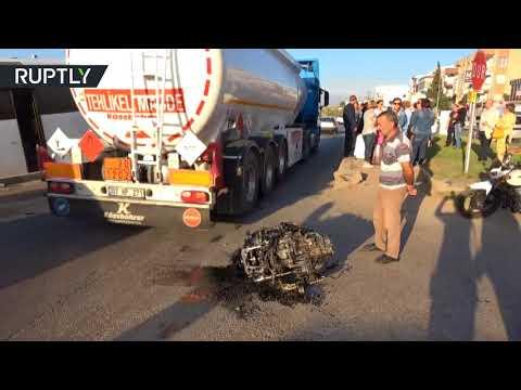 العرب اليوم - شاهد حادث سير مروّع في أنطاليا أدى إلى مقتل السائق