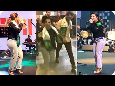 العرب اليوم - بالفيديو بلقيس فتحي تشعل حفلة العيد الوطني السعودي