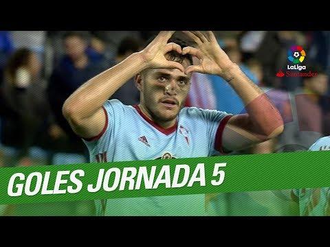 العرب اليوم - استمتع بجميع أهداف الجولة الخامسة في الدوري الإسباني