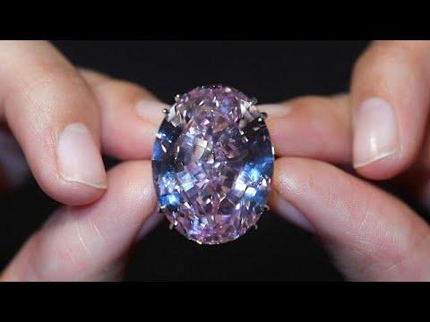 العرب اليوم - هذا هو سعر أكبر حجر الماس وردي يُباع في مزاد