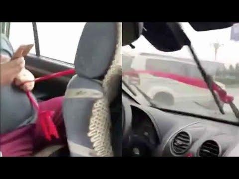العرب اليوم - طريقة صينية لتشغيل مساحات السيارة أثناء الأمطار