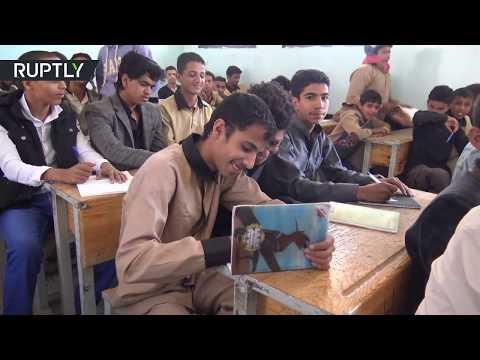 العرب اليوم - شاهد بدء سنة دراسية في صنعاء
