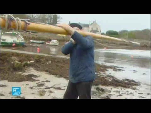 العرب اليوم - شاهد إعصار يهدّد إيرلندا
