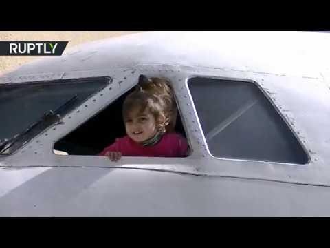 العرب اليوم - افتتاح روضة للأطفال في طائرة قديمة في جورجيا