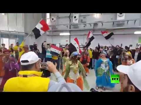 العرب اليوم - رقصات شعبية على هامش مهرجان الشباب العالمي
