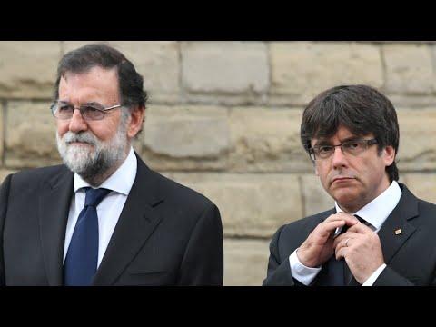 العرب اليوم - بالفيديو  رئيس وزراء إسبانيا يهدد بتعليق الحكم الذاتي لكتالونيا