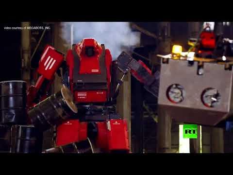 العرب اليوم - مبارزة بين روبوتين قتاليين ضخمين في اليابان