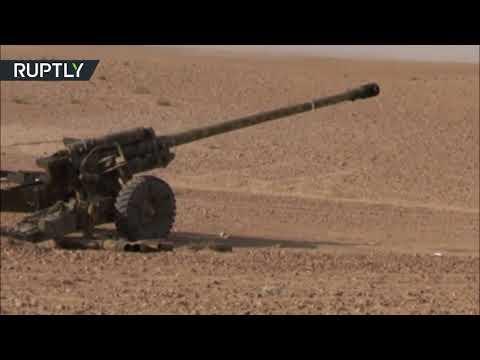 خلال عمليات متواصلة في ريف دير الزور شاهد غارات جوية وقصف مدفعي على داعش في البوكمال