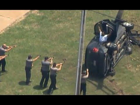 شاهد مطاردة بالسيارات بين متهم وشرطة أوكلاهوما