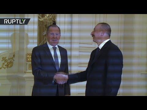 وزير الخارجية الروسي يلتقي برئيس أذربيجان إلهام عالييف