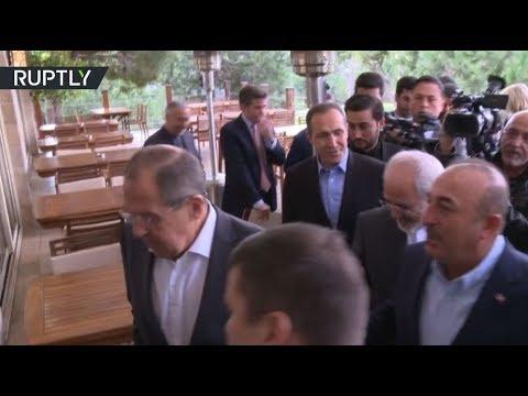 اجتماع وزراء خارجية روسيا وإيران وتركيا