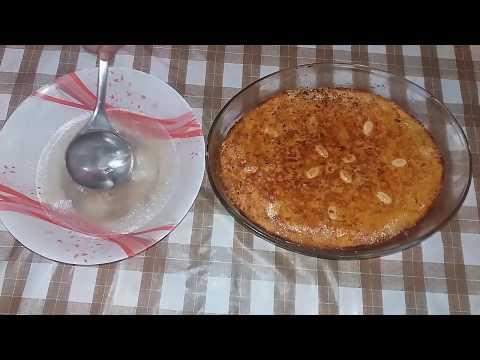 طريقة إعداد صينية بسبوسة البطاطا بالمكسرات