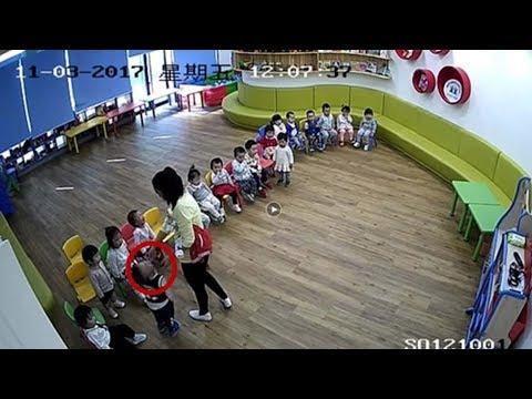 معلمة تعتدي على أطفال في الحضانة في الصين