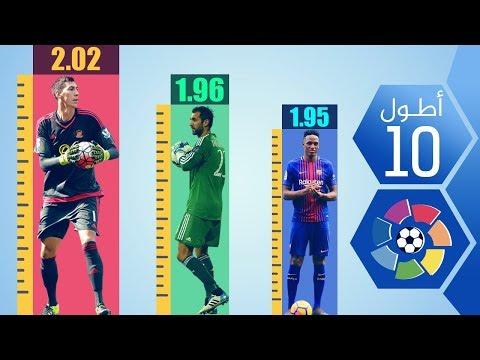أطول 10 لاعبين في الدوري الإسباني