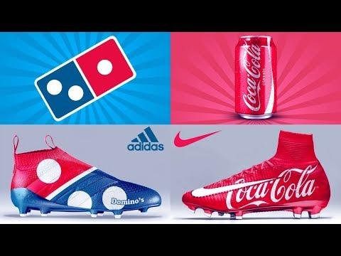 بالفيديو تخيل أن الماركات العالمية تصنع أحذية كرة قدم