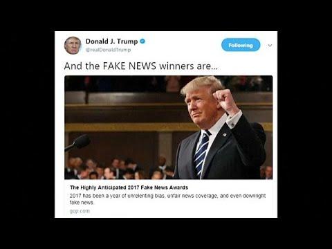 شاهد تعرّف على قائمة ترامب للفائزين بجوائز الأخبار المزيفة