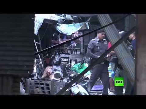 شاهد قتلى وجرحى إثر انفجار جنوبي تايلاند