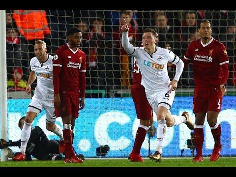 شاهد أهداف لقاء سوانزي سيتي ضد ليفربول