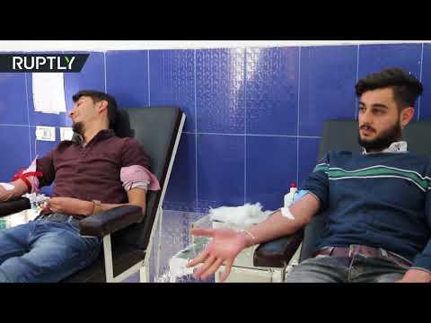 طلاب مدينة عفرين السورية يتبرّعون بالدم