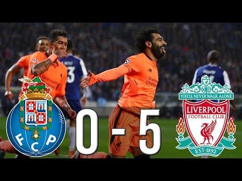 شاهد ليفربول يكتسح مضيفه بورتو البرتغالي بخمسة أهداف مقابل لا شيء