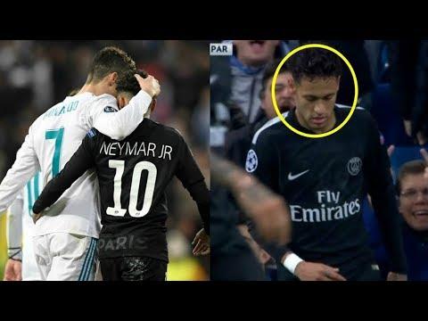شاهد نيمار يتقرَّب ويحتضن لاعبي ريال مدريد