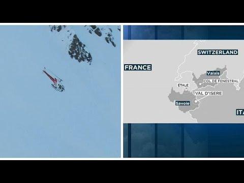 شاهد الشرطة السويسرية تنجح في إنقاذ شخصين من انهيار ثلجي