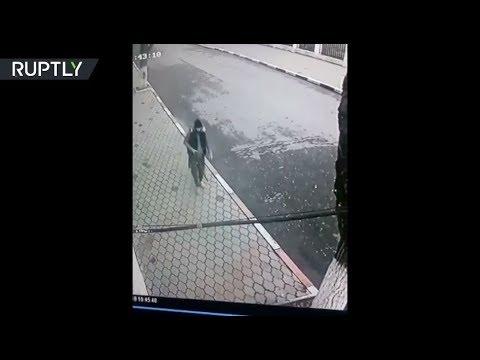 شاهد كاميرات المراقبة تصوّر سفاح داغستان