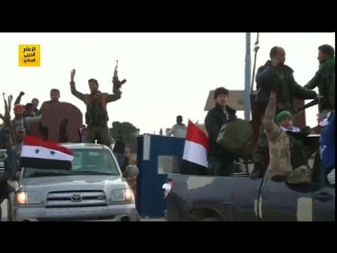 شاهد قوات موالية للنظام السوري وأخرى تركية تصلان إلى عفرين