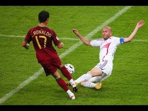 عندما التقى كريستيانو رونالدو وزين الدين زيدان لأول مرة في الملعب