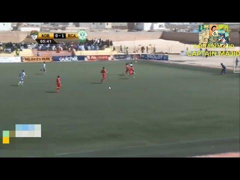 ياجور يسجل هدف التقدّم في مباراة الرجاء البيضاوي و إف سي نواديبو