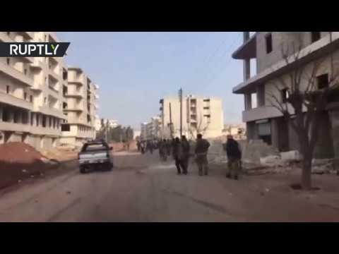 شاهد أول فيديو من داخل مدينة عفرين