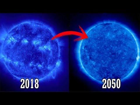 انخفاض درجة حرارة الشمس