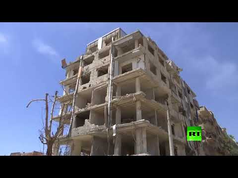 شاهد توزيع مساعدات إنسانية على سكان دوما في الغوطة الشرقية