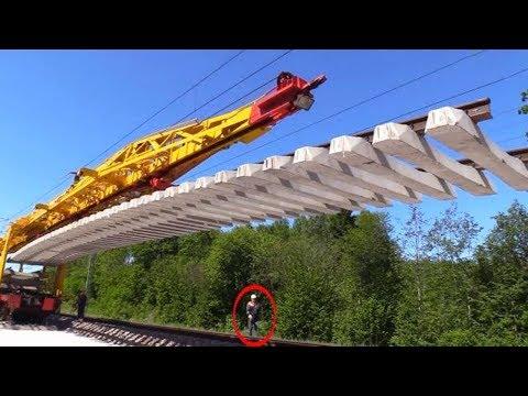شاهد تقنيات تركيب السكك الحديدية
